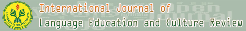 INTERNATIONAL JOURNAL OF LANGUAGE EDUCATION AND CULTURE REVIEW