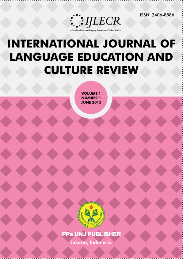 INTERNATIONAL JOURNAL OF LANGUAGE EDUCATION AND CULTURE REVIEW SAMPLE COVER