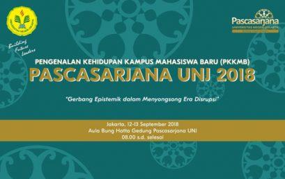 Acara Masa Pengenalan Akademik Pascasarjana Tahun Akademik 2018/2019