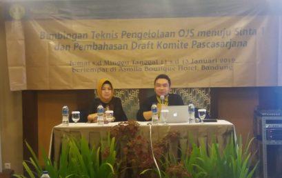 Bimbingan Teknis Pengelolaan OJS menuju Sinta 1 Jurnal dilingkungan Pascasarjana UNJ