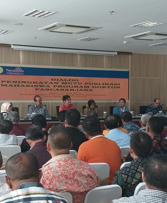 Dialog Peningkatan Mutu Publikasi Mahasiswa Program Doktor Pascasarjana UNJ