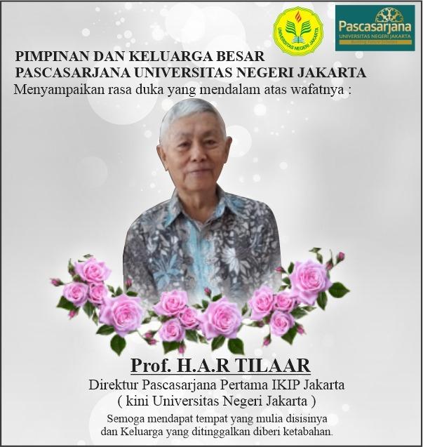 Prof. H. A. R. Tilaar Tutup Usia