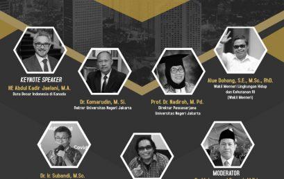 """Webinar Internasional  """"Akeselarasi Pencapaian Target Suistanable Development Goals (SDGs) di Indonesia"""""""