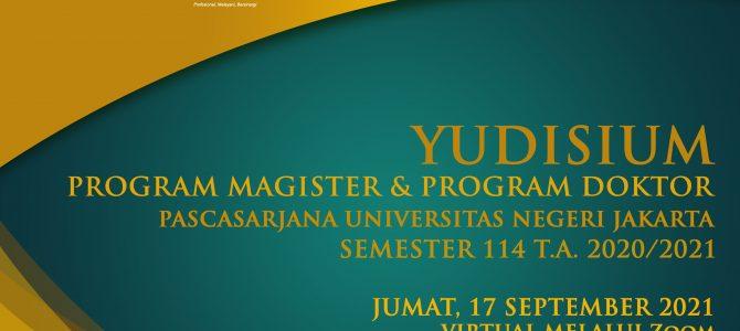 Yudisium Semester 114 Pascasrjana UNJ  Meluluskan Magister dan Doktor Baru